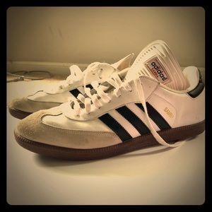 Men's Adidas Samba Classic Shoe white black 10.5